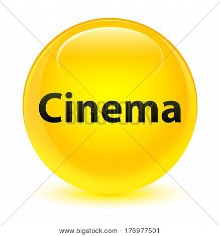Cinema Glassy Yellow Round Button