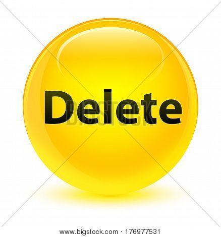 Delete Glassy Yellow Round Button