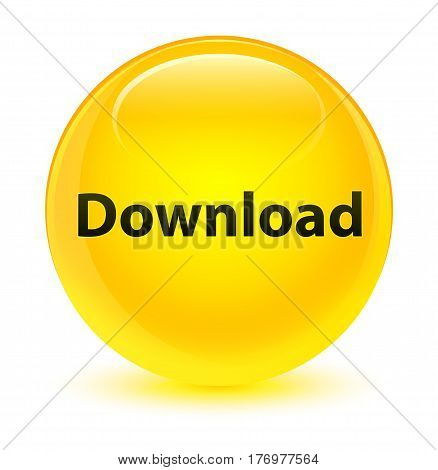 Download Glassy Yellow Round Button