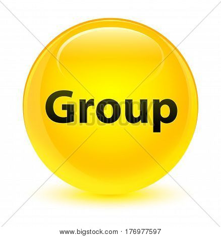 Group Glassy Yellow Round Button
