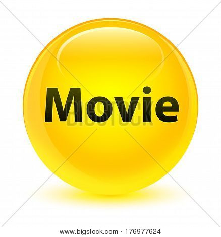 Movie Glassy Yellow Round Button