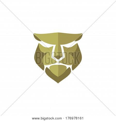 Lion head vector- abstract lion head vector sign concept illustration. Lion head logo. Wild lion head graphic illustration. Design element.