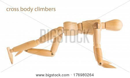 Cross Body Climbers Pose