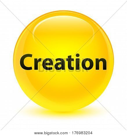 Creation Glassy Yellow Round Button