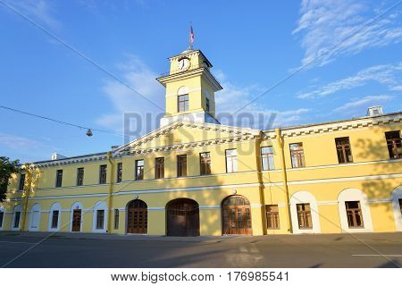Plant management Izhora Factory building in the historic center of Kolpino a suburb of St. Petersburg Russia.