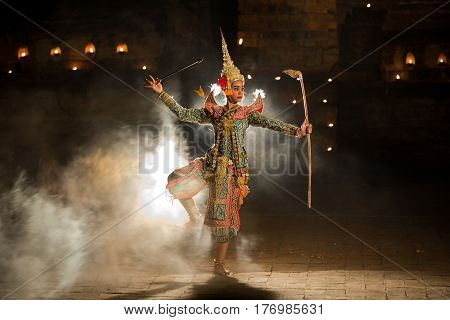 KHON THAI Rama Character in Ramayana story In Thai literature is mask dancing the best of Thailand.
