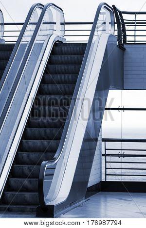 new escalator in a modern building