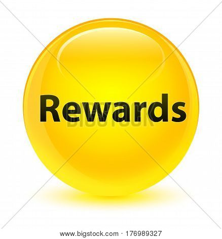 Rewards Glassy Yellow Round Button