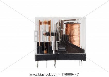 Electromagnetic Relay Isolated On White