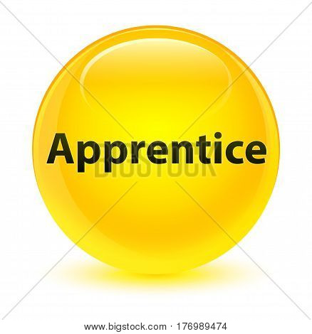 Apprentice Glassy Yellow Round Button