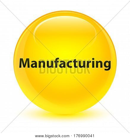 Manufacturing Glassy Yellow Round Button