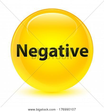 Negative Glassy Yellow Round Button
