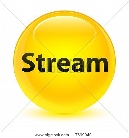 Stream Glassy Yellow Round Button