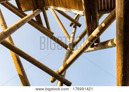 Details Of Wooden Watch Tower