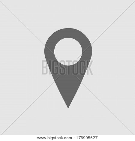 Map pointer vector icon eps 10. Mark symbol. Marker sign.