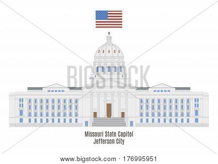 Missouri State Capitol In Jefferson City, United States Of America