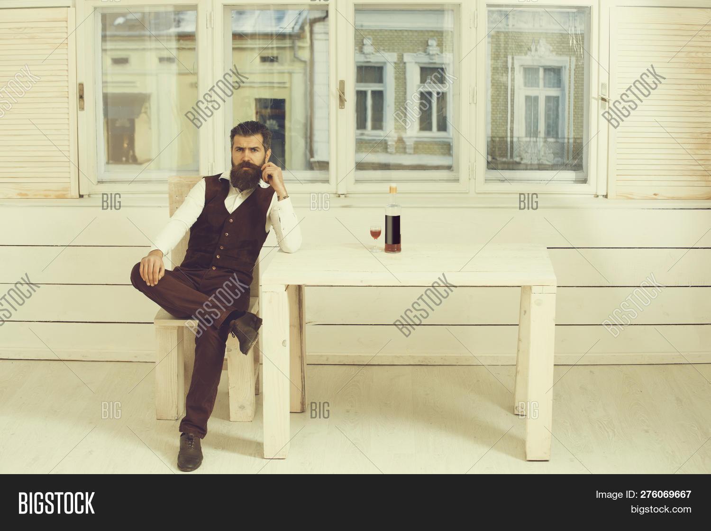 Astounding Man Sitting On Wooden Image Photo Free Trial Bigstock Frankydiablos Diy Chair Ideas Frankydiabloscom