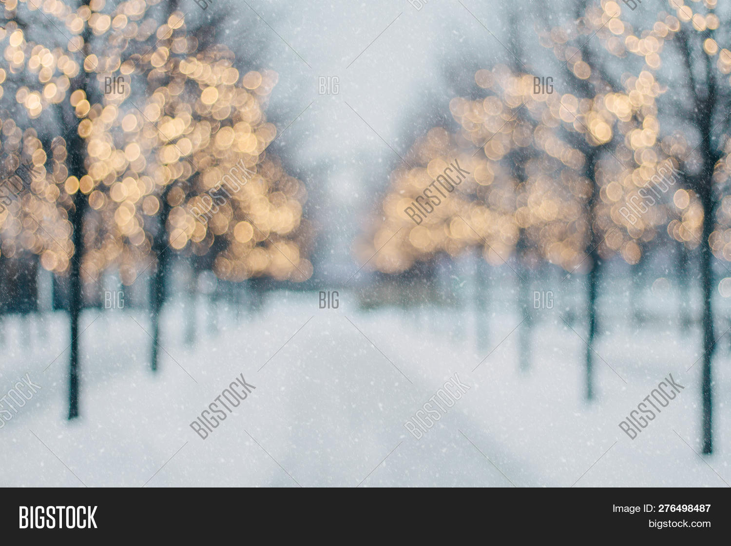 Christmas Lights That Look Like Water Falling.Beautiful Blurred Image Photo Free Trial Bigstock
