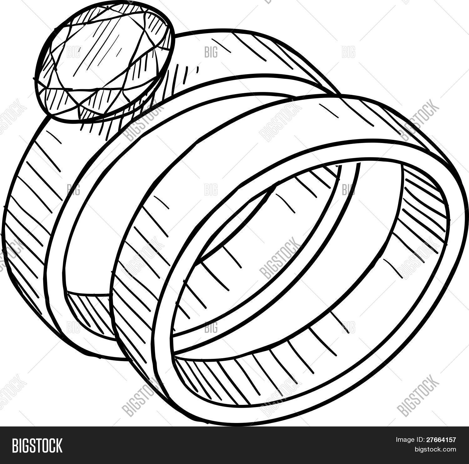 Wedding Ring Drawing Vector Photo Bigstock