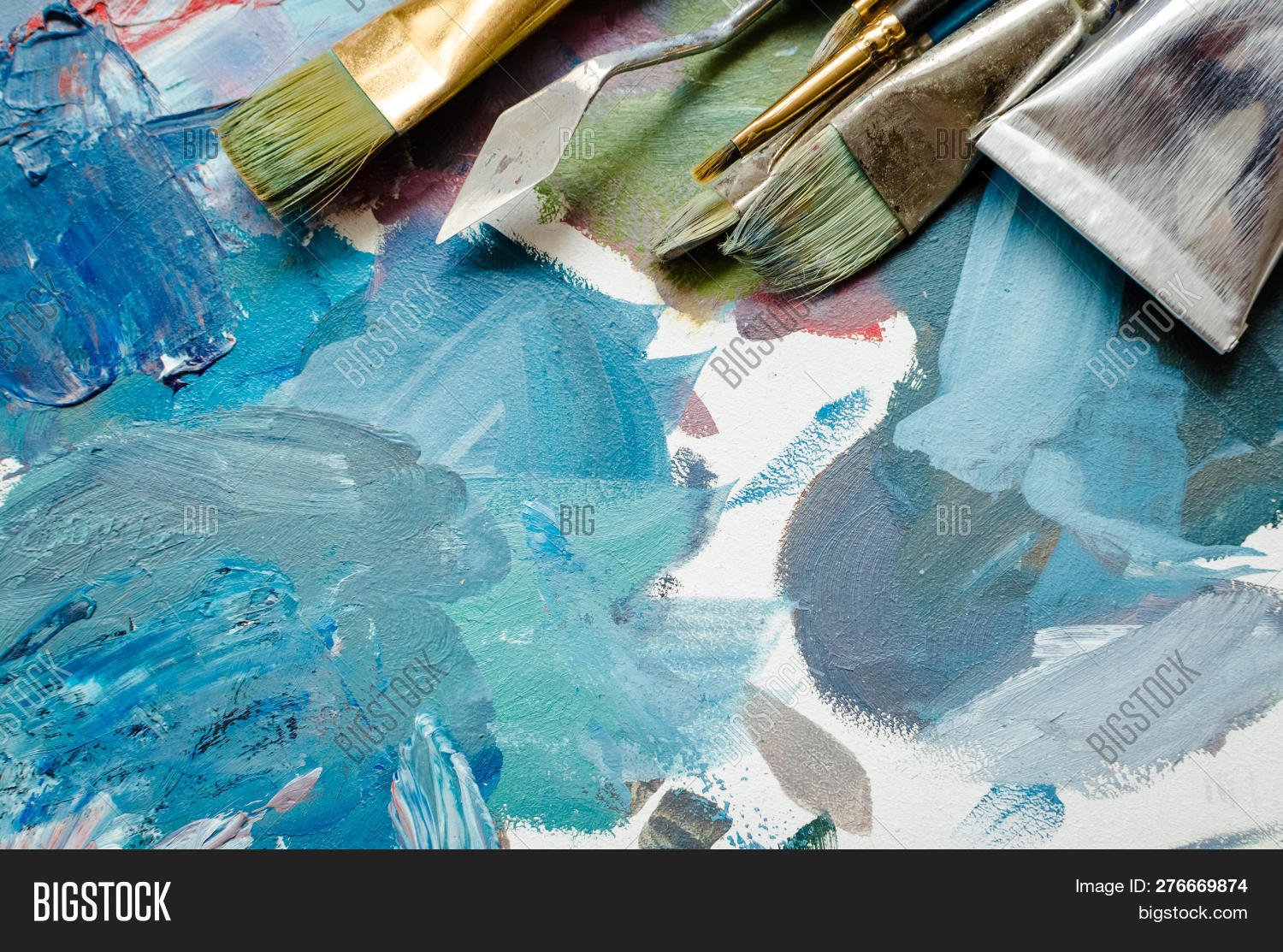 Artist Paint Brushes Image Photo Free Trial Bigstock