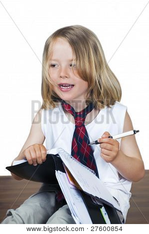 Cute Child With Business Look