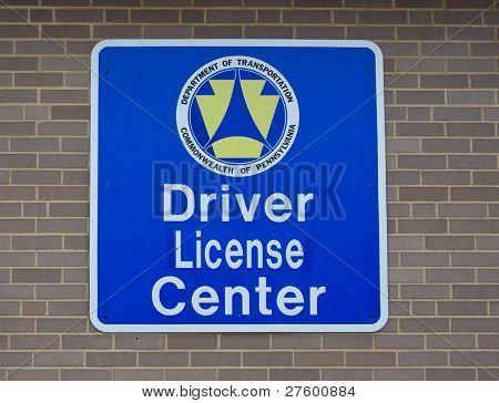Driver License Center sign