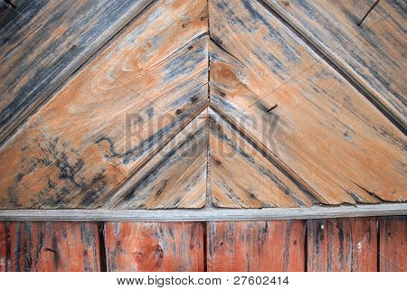 Rickety Wooden Wall Of House. Texture.