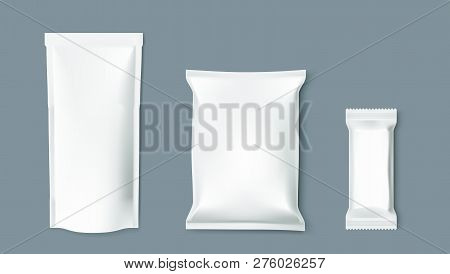 Simple Blank Doy Pack, Pillow Pack And Chocolate Bar