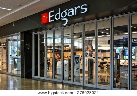 Edgars Shop Window. Fashion Storefront In A Large Shopping Mall. Modern Style. Elegant Clothes. Woma