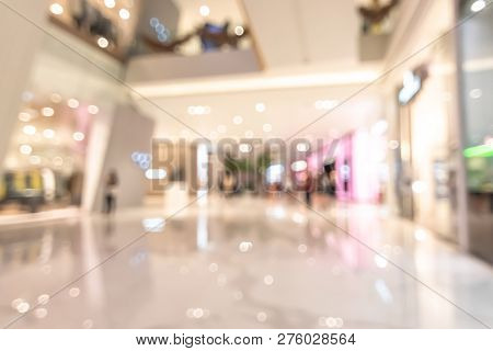 Shopping Mall Blur Background With Blurry Interior View Retail Shop Fashion Window Display Store Fro