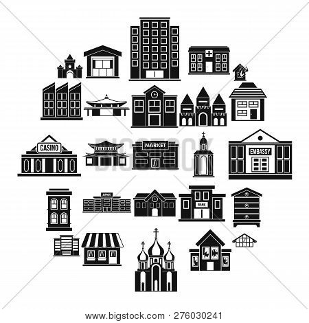 Land Development Icons Set. Simple Set Of 25 Land Development Icons For Web Isolated On White Backgr
