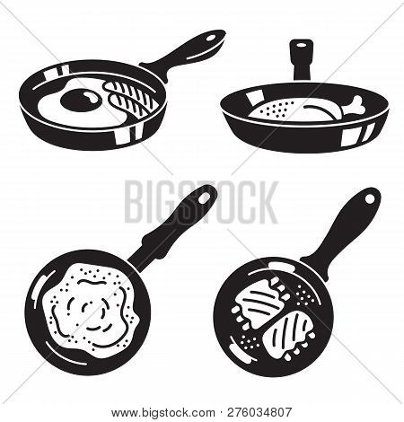 Kitchen Griddle Icon Set. Simple Set Of Kitchen Griddle Icons For Web Design On White Background