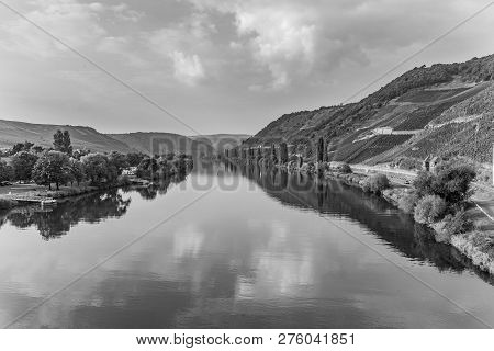 Scenic Moselle Valley At Trittenheim In Germany