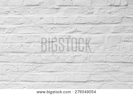 harmonic background of white painted brick wall poster
