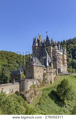 Historic And Old Castle Eltz In The Rhineland-palatine Region In Germany