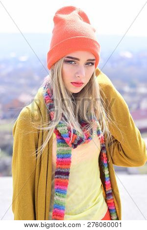 woman maintaining fashion blog. Hipster woman with fashion makeup. Beauty and fashion look of vogue model. Fashion portrait of woman. Hip hop girl with fashionable hair. Young and free. poster