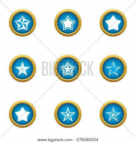 Starlight Icons Set. Flat Set Of 9 Starlight Icons For Web Isolated On White Background