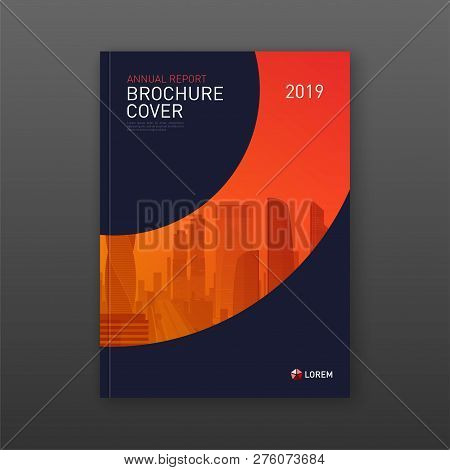 Business Brochure Cover Design Layout. Good For Real Estate Catalog, Annual Report, Poster, Flyer, C
