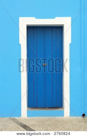 Door On Blue