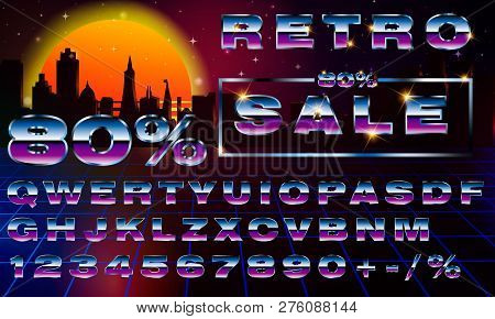 80s Neon Font Images, Illustrations & Vectors (Free) - Bigstock