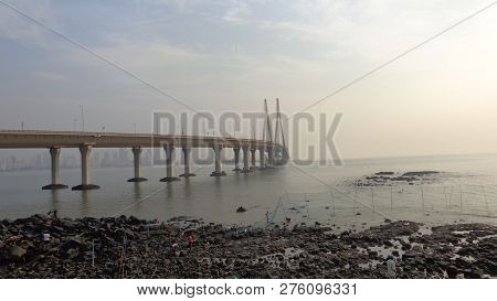 The Bandra-worli Sea Link Officially Called Rajiv Gandhi Sea Link Is A Cable-stayed Bridge That Link