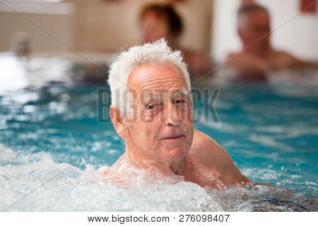 Elderly Man In Jacuzzi