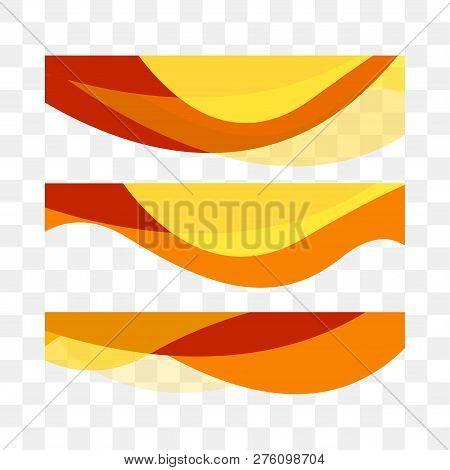 Set Abstract Vector Background, Transparent Waved Lines For Brochure, Website, Flyer Design. Wavy Ba