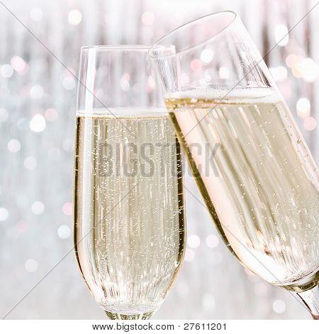 Sparkling Festive Champagne