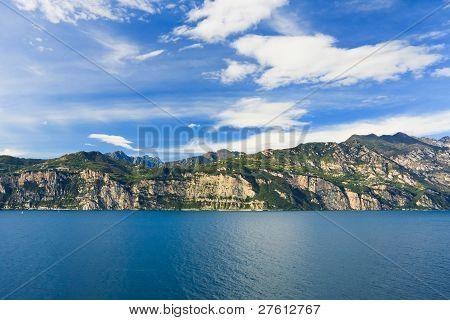 Sky Mountains And Water on Garda