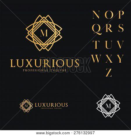 Logo Template Luxurious, Hotel, Fashion, Letter M, Wedding, Premium, Restaurant.