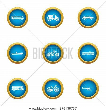 Fare Icons Set. Flat Set Of 9 Fare Icons For Web Isolated On White Background