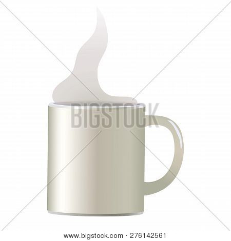 White Light Vector Coffee Mug For Soup Tea Isolated Object On White Background Simple With White Tra