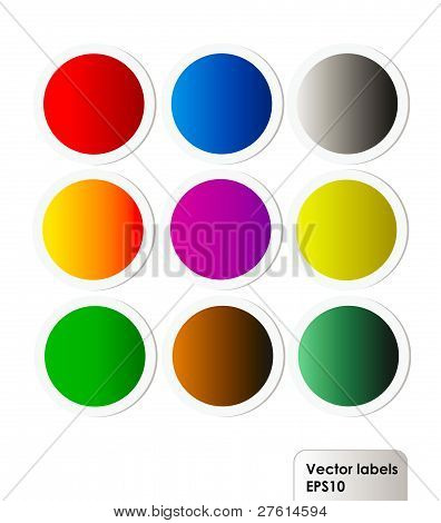 Vector Set Of Colorful Labels