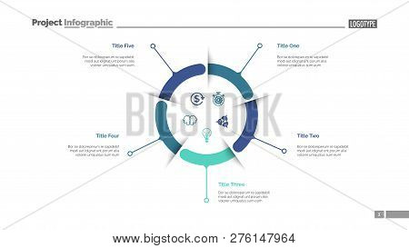 Blue And Green Business Diagram Slide Template. Business Data. Graph, Diagram. Creative Concept For